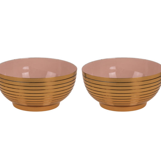 Pair Nude Gold Bowls
