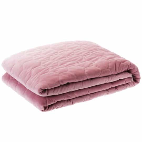 Pink Velvet Throw