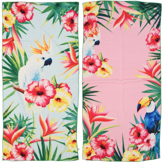 Tropical Bird Beach Towels