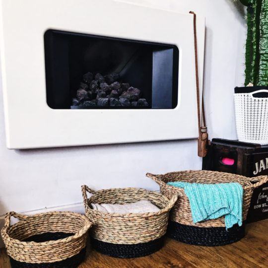 straw storage baskets